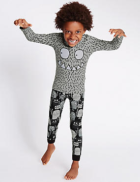 Cotton Rich Long Sleeve Pyjamas (1-8 Years)