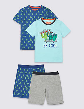 2 Pack Short Sleeve Pyjamas (9 Months - 8 Years)