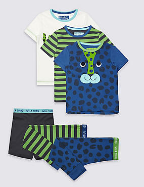 3 Pack Short Sleeve Pyjamas (9 Months - 8 Years)