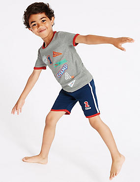 Badge Short Pyjamas (9 Months - 8 Years)