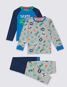 2 Pack Long Sleeve Pyjamas (9 Months - 8 Years)