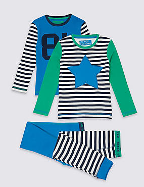 2 Pack Pure Cotton Pyjamas (9 Months - 8 Years)