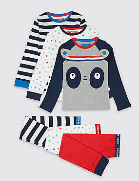 3 Pack Long Sleeve Pyjamas (9 Months - 8 Years)