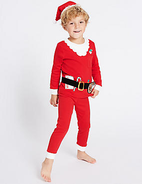 Cotton Santa Pyjamas (9 Months - 8 Years)