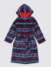 Fairisle Dressing Gown with Belt (1-8 Years)