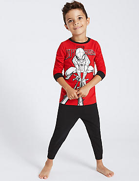Pure Cotton Spider-Man™ Pyjamas (2-10 Years), GREY MIX, catlanding