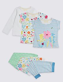3 Pack Pyjamas with Stretch (1-7 Years)