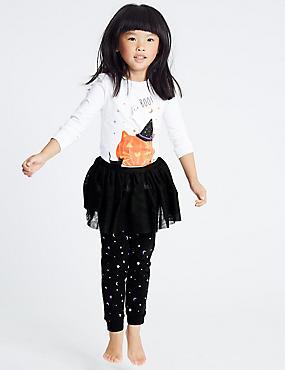 Pumpkin Tutu Pyjamas (1-7 Years), GREY MARL, catlanding