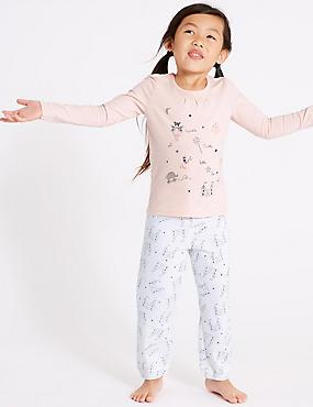 Pure Cotton Pyjamas (1-7 Years), SOFT PINK, catlanding