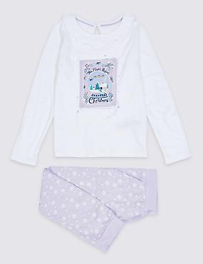 Pure Cotton Pyjamas (1-7 Years), ORCHID, catlanding