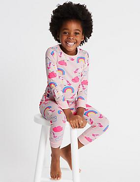 Unicorn Pyjamas with Stretch (1-7 Years), PINK, catlanding