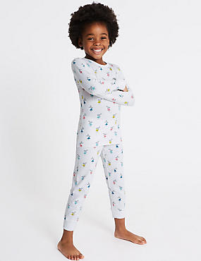 Bunny Print Pyjamas with Stretch (1-7 Years)