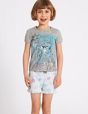 Disney Frozen™ Pure Cotton Short Pyjamas (2-10 Years), GREY MIX, catlanding