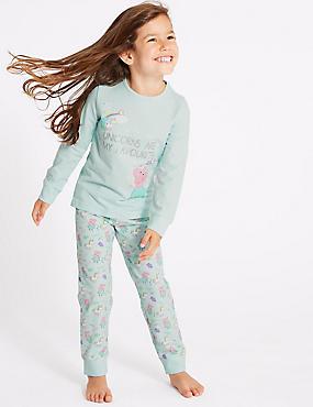 Peppa Pig™ Pyjamas with Stretch (1-7 Years), PALE BLUE MIX, catlanding