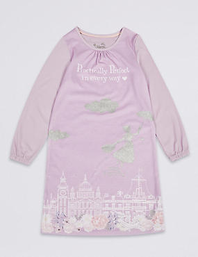 Mary Poppins™ Nightdress (2-10 Years), LILAC MIX, catlanding