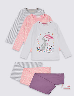 3 Pack Cotton Pyjamas (9 Months - 8 Years)