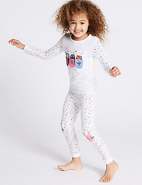 Cotton Printed Pyjamas with Stretch (9 Months - 8 Years)