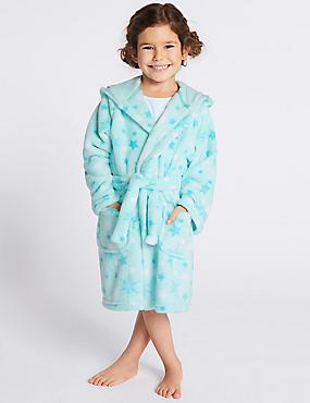 Disney Frozen™ Hooded Gown (2-10 Years), AQUA MIX, catlanding