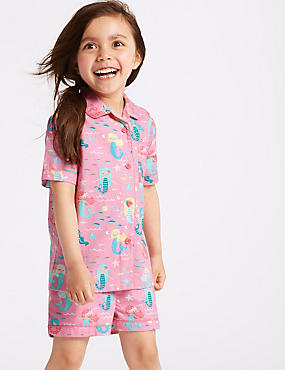 Pure Cotton Short Pyjamas (1-7 Years)