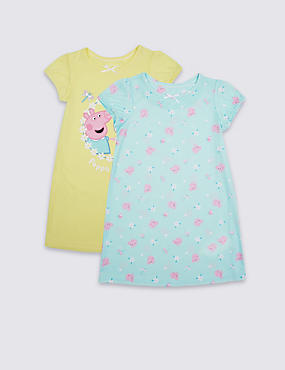 2 Pack Peppa Pig™ Nightdress (1-7 Years)