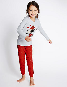 Long Sleeve Minnie Mouse Pyjamas (1-10 Years)