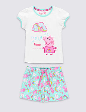 Pure Cotton Peppa Pig™ Short Pyjamas (1-7 Years)