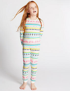 Cotton Rich Fairisle Long Sleeve Pyjamas (1-16 Years)