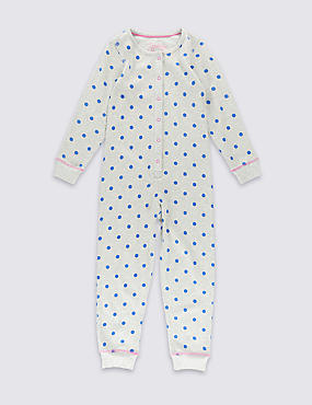 Pure Cotton Spotted All-in-One (1-8 Years)