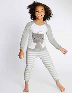 Animal Print Fleece Long Pyjamas (1-8 Years)