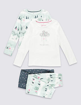 2 Pack Pure Cotton Pyjamas (1-8 Years)