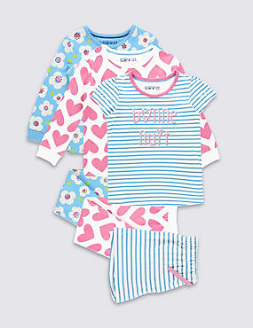 3 Pack Pure Cotton Pyjamas (9 Months - 8 Years)
