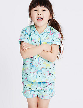 Pure Cotton All Over Print Short Pyjamas (9 Months - 8 Years)