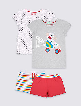 2 Pack Pure Cotton Short Pyjamas (9 Months - 8 Years)