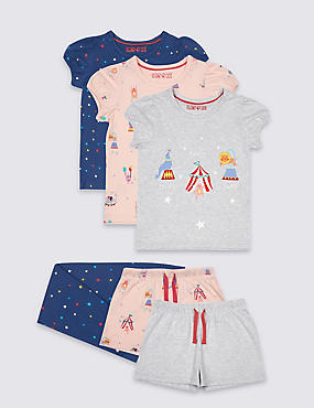 3 Pack Circus Pyjamas (9 Mths - 8 Yrs)
