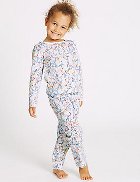 Pure Cotton All Over Print Pyjamas (9 Months - 8 Years)