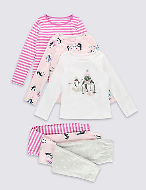 3 Pack Assorted Long Sleeve Pyjamas (1-8 Years)
