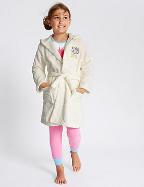 Hello Kitty Embossed Dressing Gown (1-16 Years)