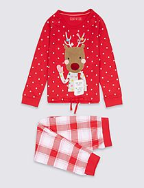 Reindeer Long Sleeve Pyjamas (1-8 Years)
