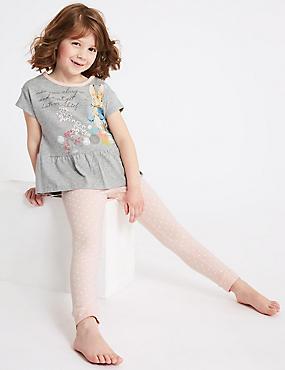 Peter Rabbit™ Printed Pyjamas (1-6 Years), GREY MIX, catlanding