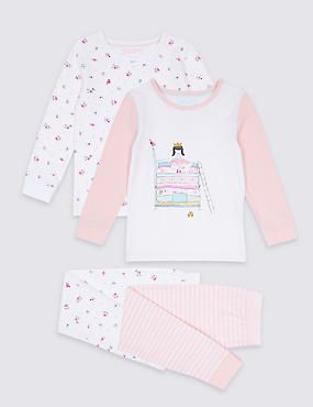 2 Pack Cotton Pyjamas with Stretch ( 9 Months - 8 Years)