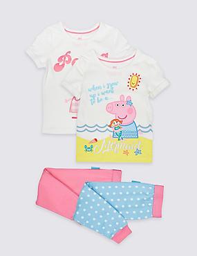 Peppa Pig™ 2 Pack Pyjamas (1-7 Years), PINK MIX, catlanding