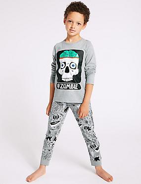 Cotton Rich Pyjamas (3-16 Years), CHROME, catlanding