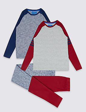 2 Pack Pyjamas (3-16 Years), HENNA, catlanding