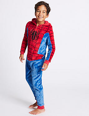 Spider-Man™ Hooded Onesie (4-16 Years), RED MIX, catlanding