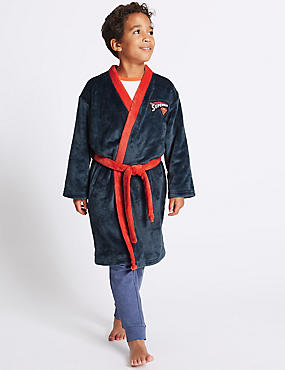 Superman™ Dressing Gown with Belt (4-16 Years)
