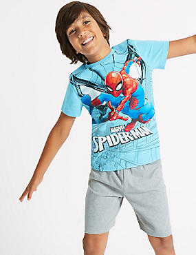 Spider-Man™ Pure Cotton Short Pyjamas (4-16 Years)