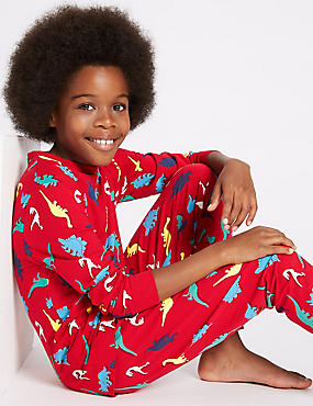 Cotton Dinosaur Print Pyjamas with Stretch (1-16 Years)