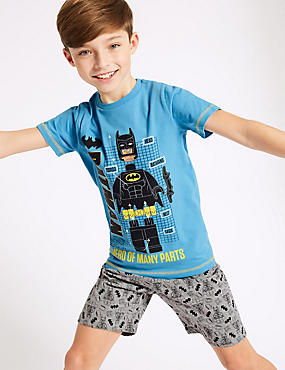 Batman™ Printed Short Pyjamas (3-10 Years), BLUE MIX, catlanding