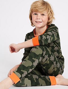 Printed Pyjamas with Stretch (1-16 Years)
