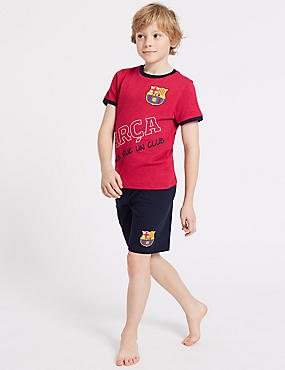 FC Barcelona™ Cotton Pyjamas (3-16 Years), BLACK MIX, catlanding